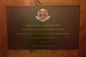 Memorial 10th Battalion The Duke of Cambridges Own (Middlesex Regiment)