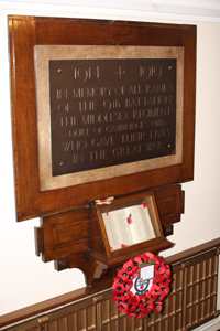 Memorial 9th Battalion The Middlesex Regiment (DCO) (TA)